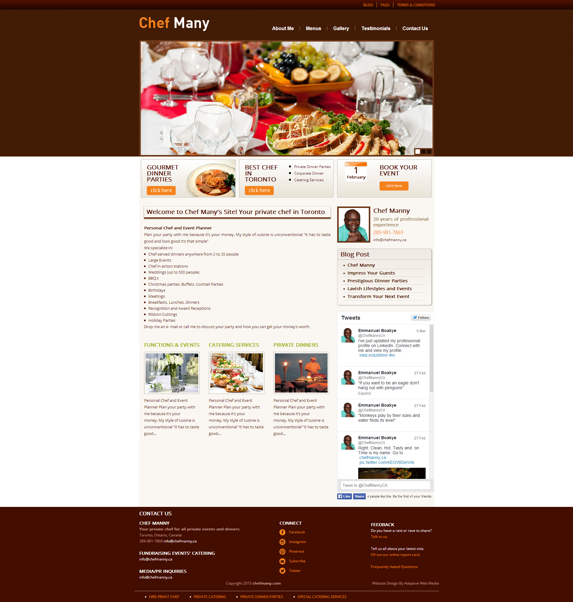 chef website, gourmet chef design, chef web design