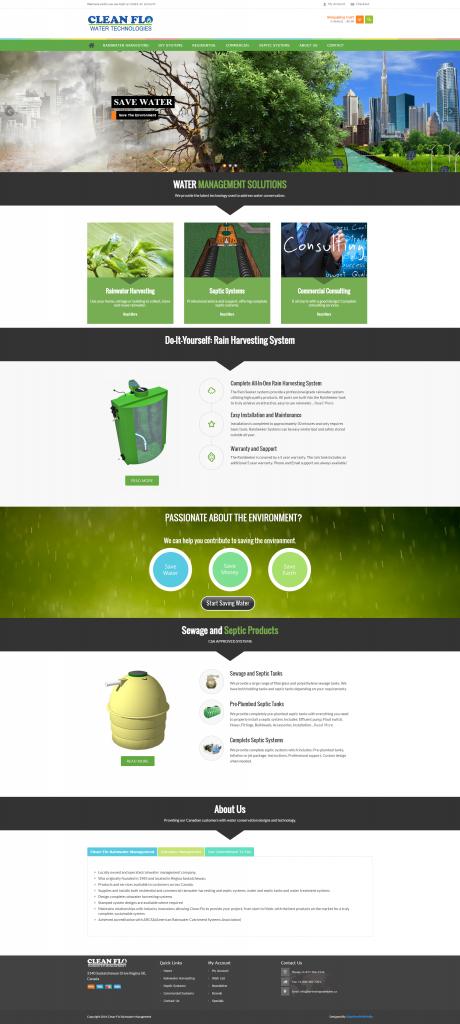 E-commerce (shopping cart) web design for a Regina based company by Adaptive Media