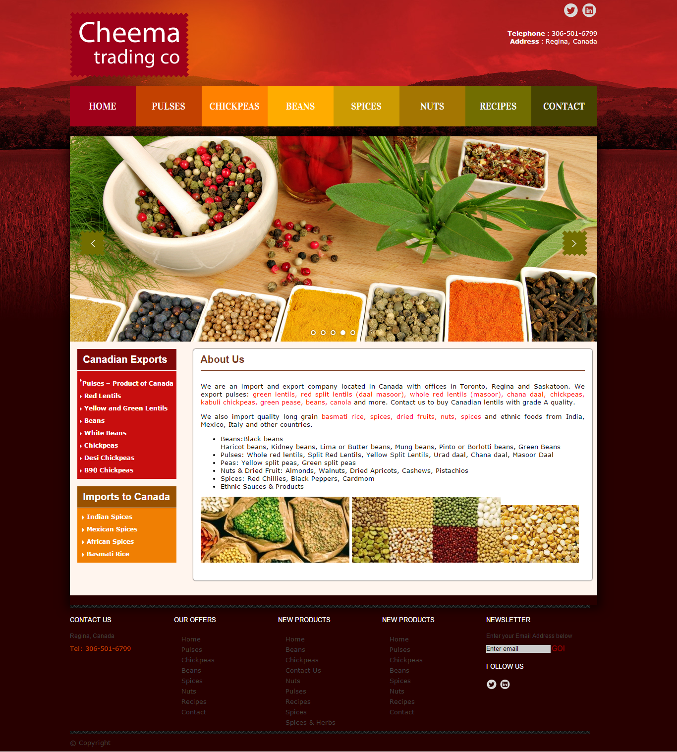 import export company website design