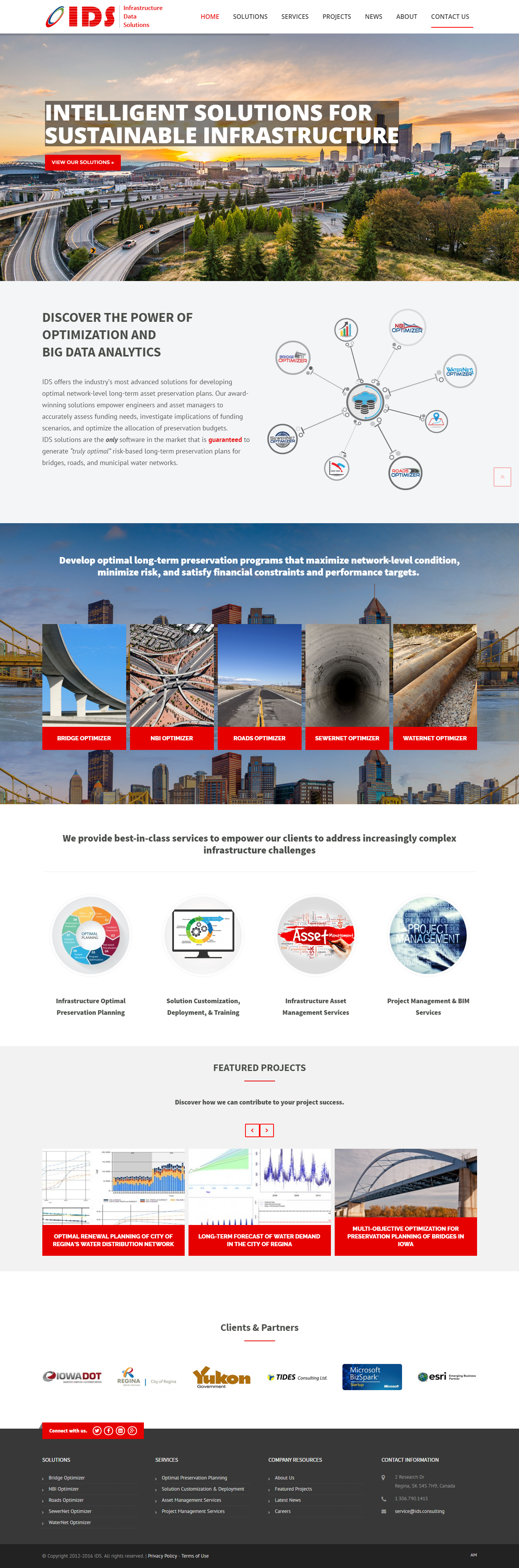 IDS Inc website design